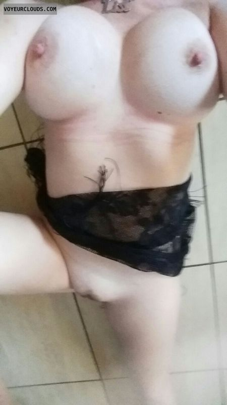 nude wife, big tits, hard nipples, awesome pussy, selfie