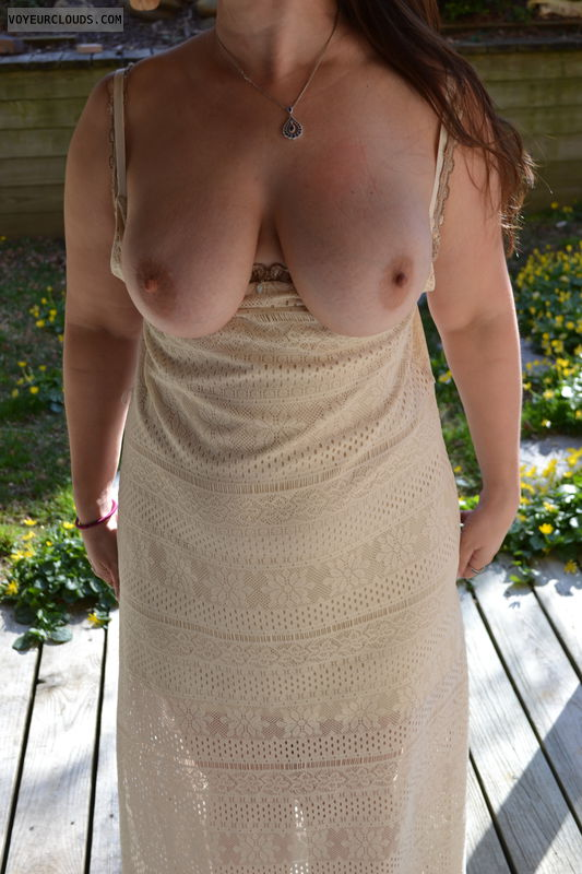 big breasts, tits, dress