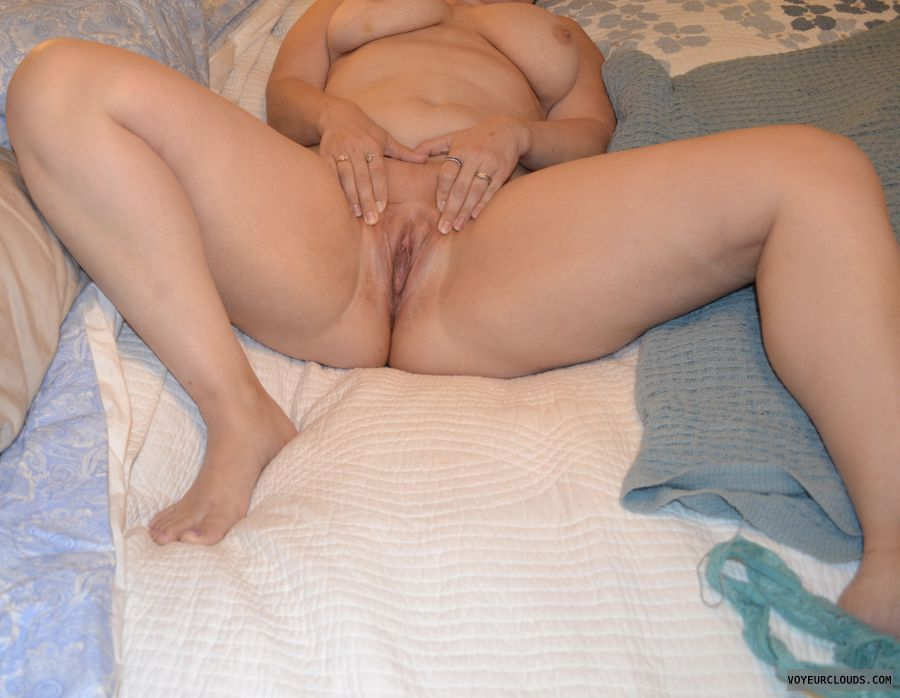 pussy, shaved pussy, wet, big breasts, tits, legs spread