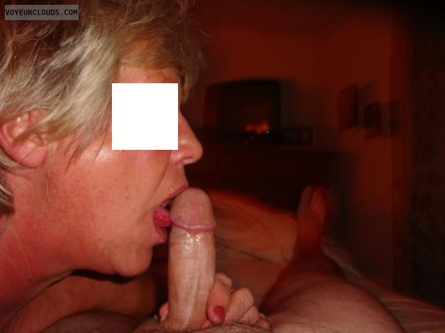 Mature BJ, Licking the tip, MILF BJ, Mature Sex, Blow Job