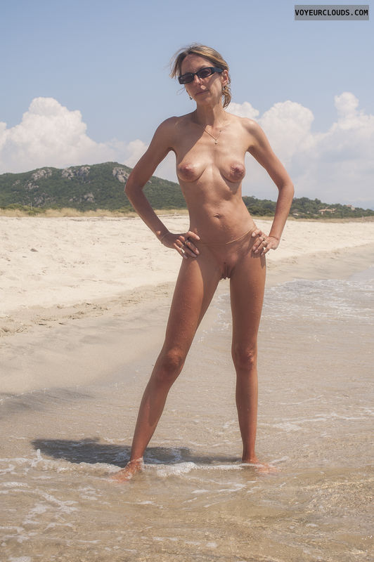 Nudist beach only shaved