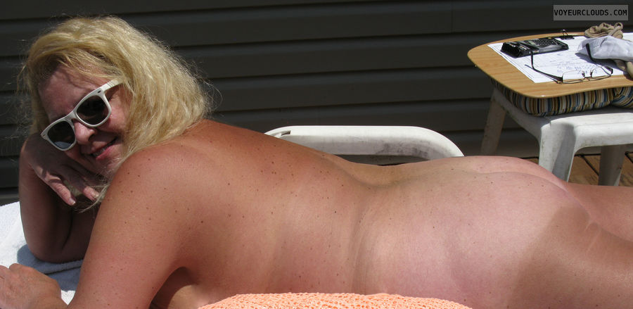 nude wife, blonde, milf, wife, butt, ass, naked
