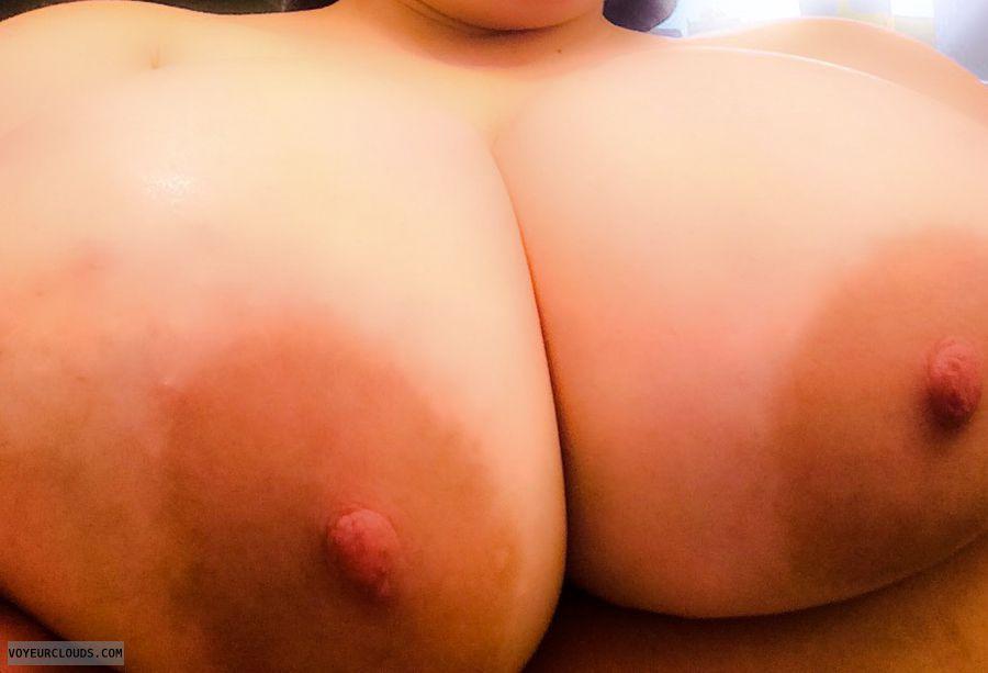 Milf boobs, topless, selfie, big boobs, hard nipples