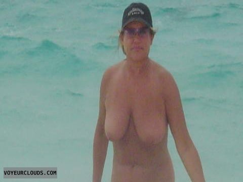 Mature woman, Big Tits, Nude Beach