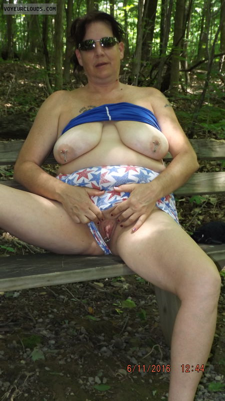 naked outside, naked in public, outside, public, tits