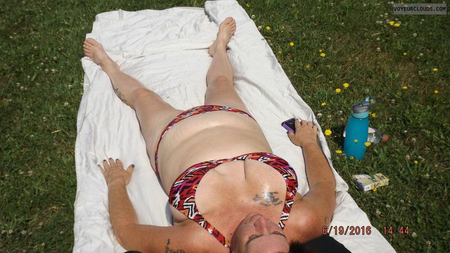 bikini milf, bikini wife, bikini, wife, milf, outside