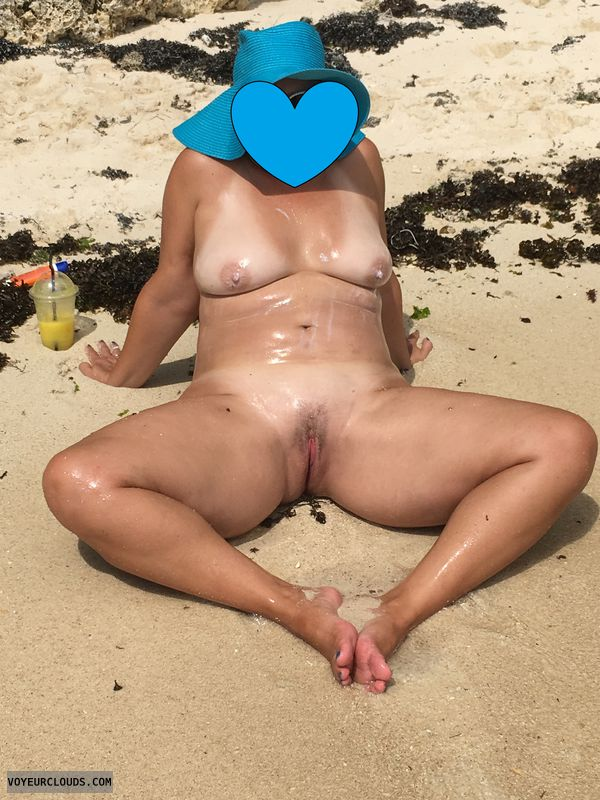 naked, outdoors, pussy, beach, tits