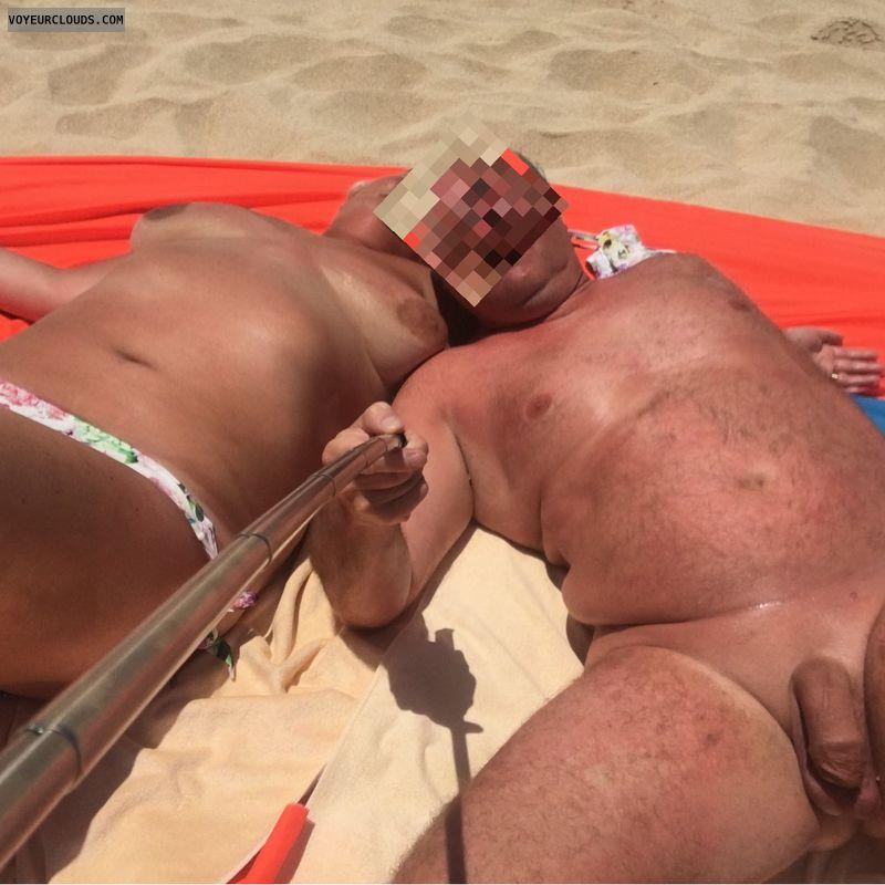 Tits, nude, nude beach, selfie, beach, fuerteventura