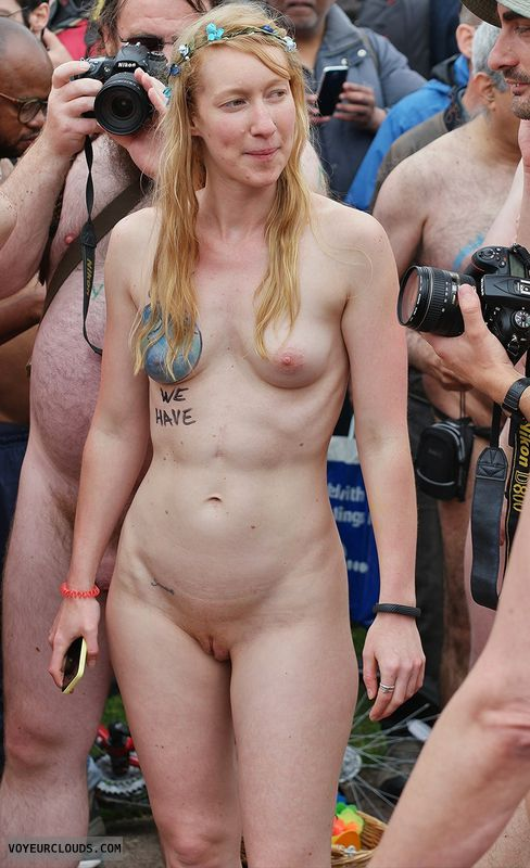 wnbr, hard nipples, shaved
