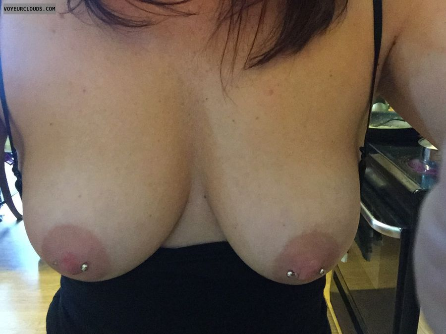 Boobs, Nipples, Nipple piercings, Piercings, Milf