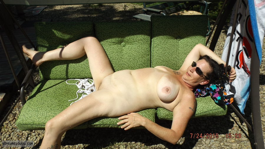 tanning naked, naked outside, naked in public, naked