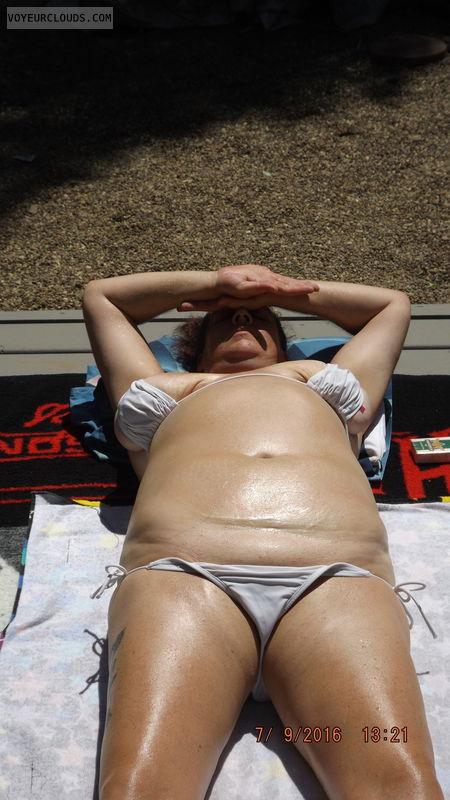 bikini, tanning, tits, big tits, camel toe, bikini camel toe