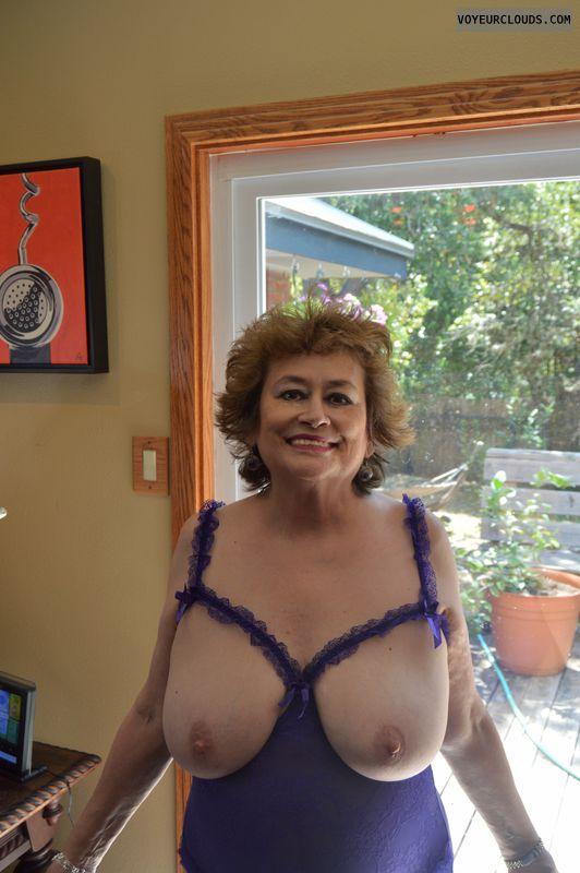 Big tits, milf, lingerie, braless