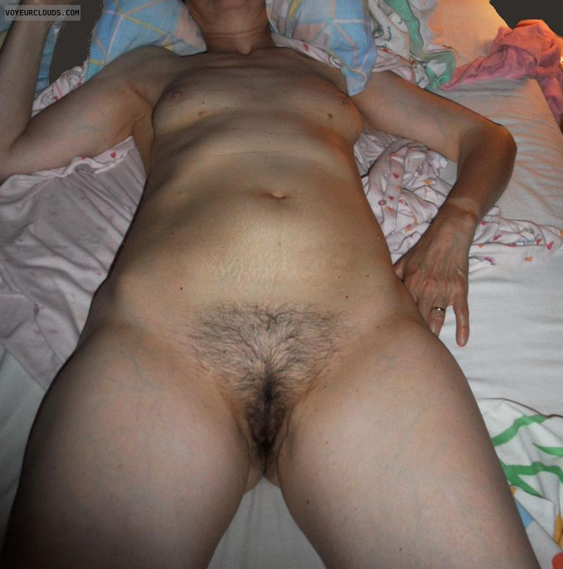 mature wife, bed, small tits, naked, sexy, nude, pussy