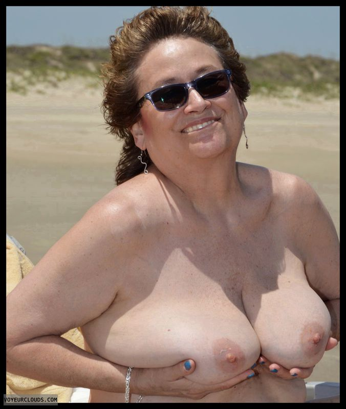 Big tits, milf, beach, outdoor
