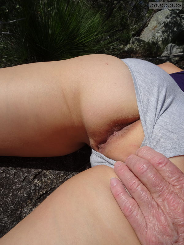 ass, close up, public, flashing