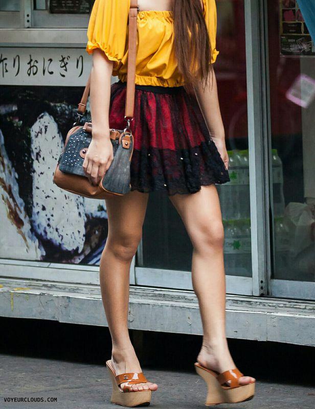 Legs, heels, candid