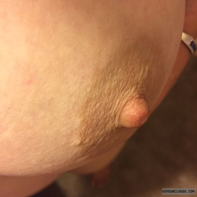 Breast, hard nipple, tit closeup, selfie