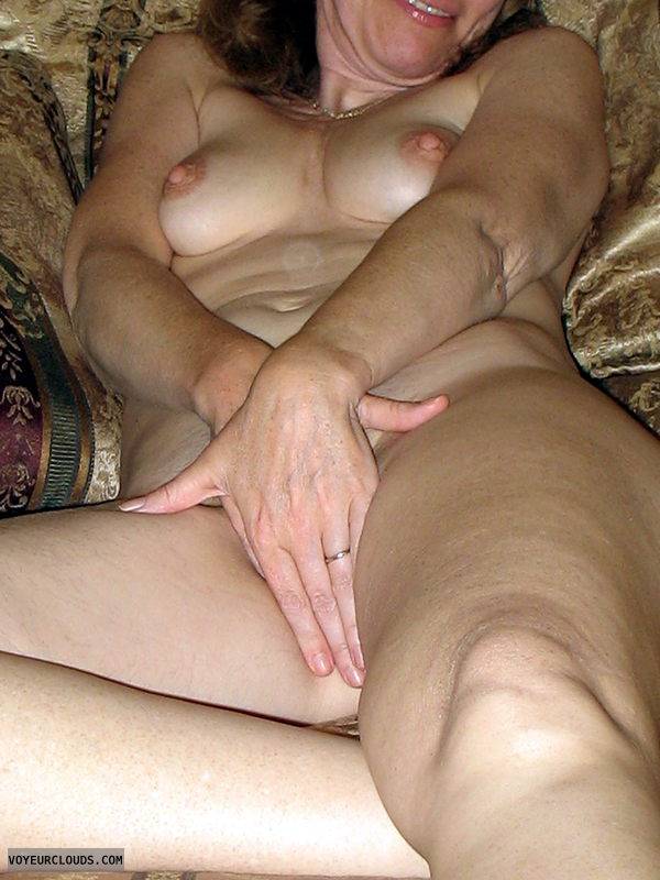Nude Wife, Nude Milf, Bare Breasts, Bare Pussy, Hand Panty