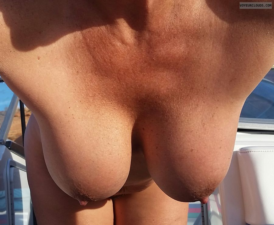 Hangers, big boobs, hard nipples, GILF, topless