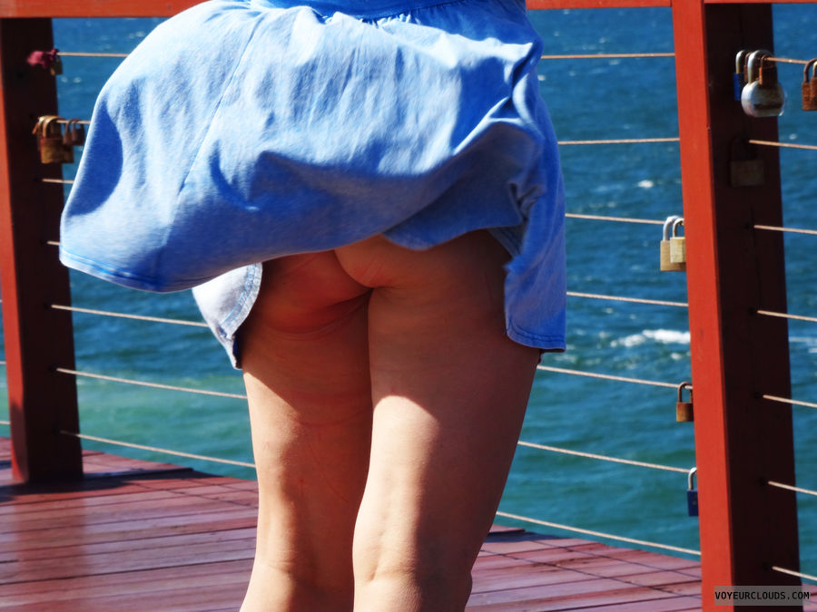 Public Butt, ass, flashing, beach, up skirt