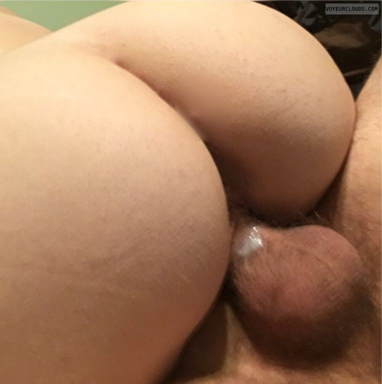 Cream pie, wife cream pie, roundass, ass, Perfect ass