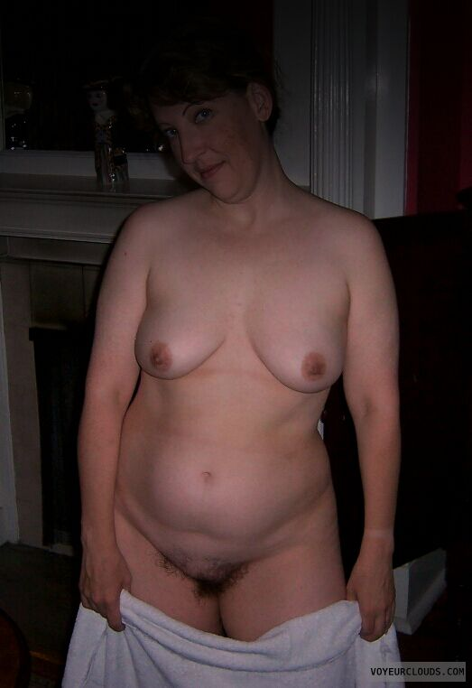 Small tits, Hairy pussy