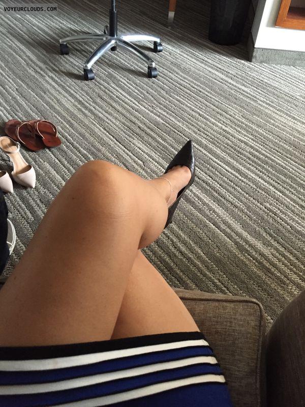 Selfie, high heels, sexy legs, Milf, Hotel, Anklet