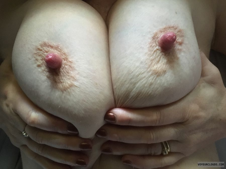 Sucked nipples, erect nipples, big nipples, big tits
