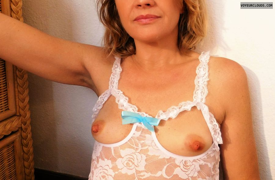 wife boobs, small tits, hard nipples, sexy lingerie
