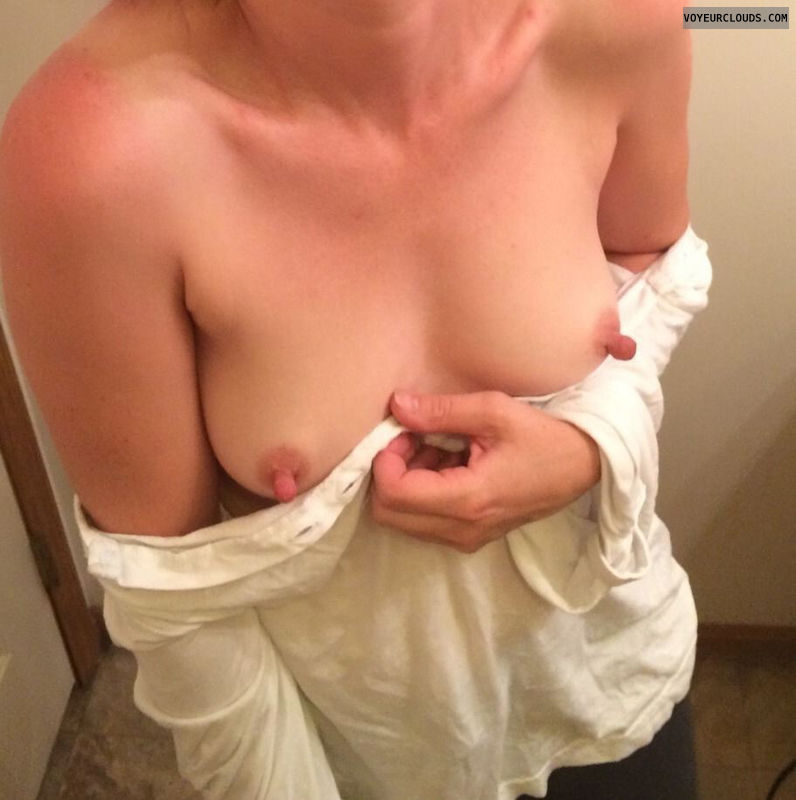 Nipples, nips, cleavage, boobs, tits, wife, blonde