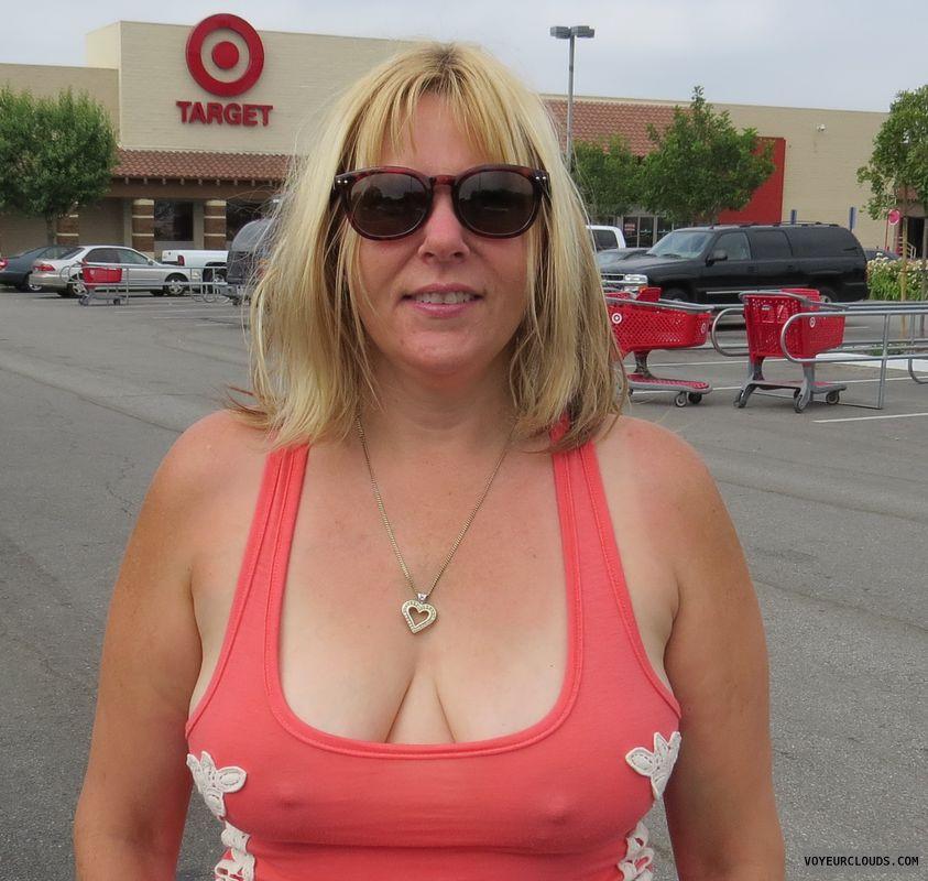 braless, deep cleavage, hard nipples, pokies, teasing