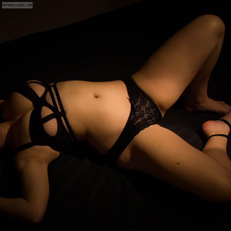 posing, big tits, lingerie, sexy lingerie, black lingerie