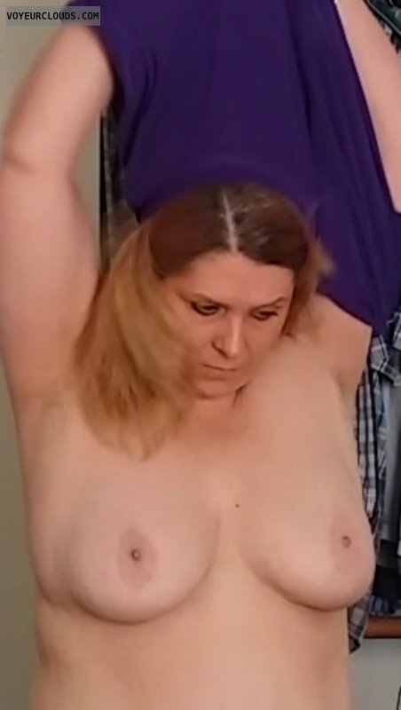 Big tits, topless, hard nipples