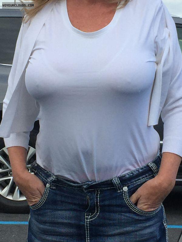 erect nipples, see thru, big tits, pokies