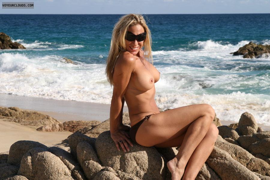 topless, big boob, hard nipples, big tits, posing