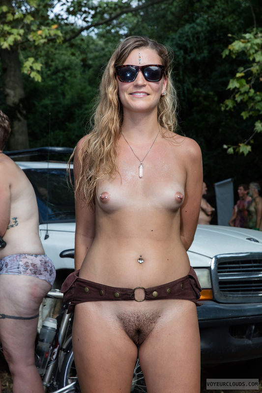 wnbr, hard nipples, trimmed, small tits