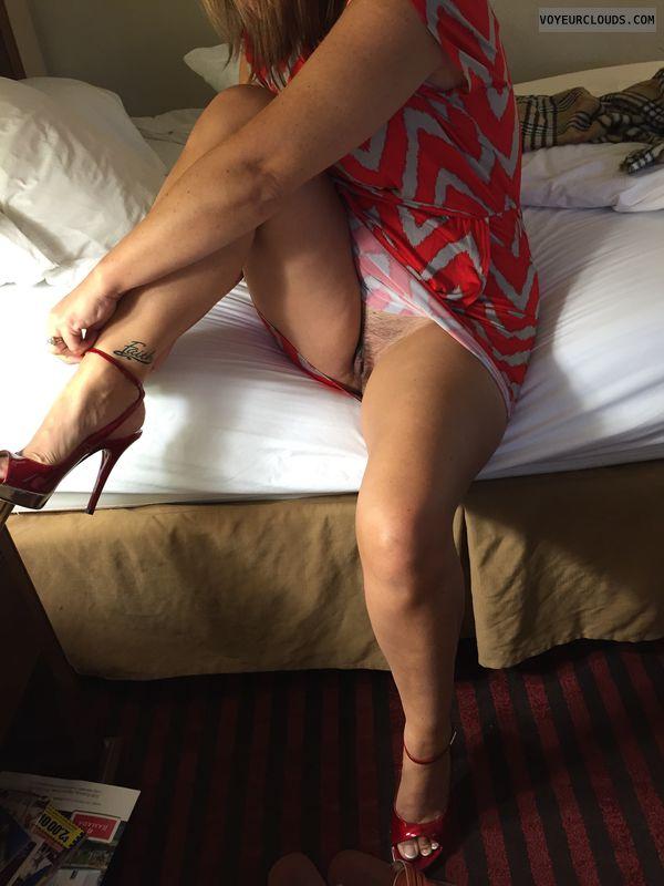 Pussy, Pussy flash, Pussy peek, Fuck me heels, Sexy heels