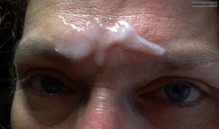 Facial, Eyes, Cum, Cum close up