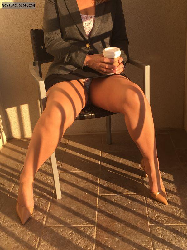Milf, Hotel, Upskirt, Milf legs, Sexy heels, High heels