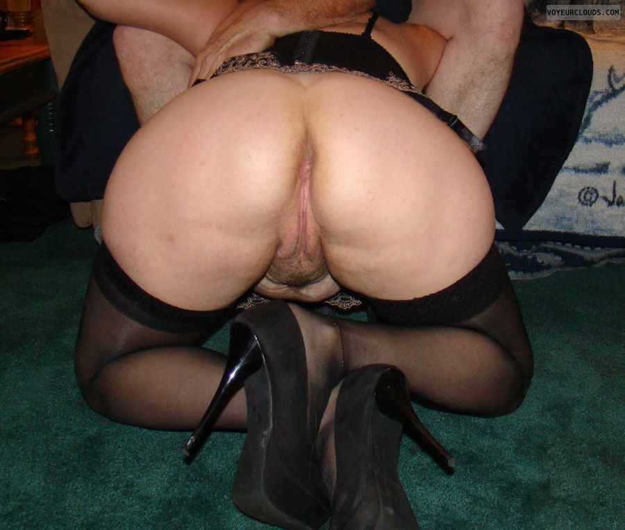 Ass, Pussy, legs, Stockings, heels, bentover, ass sperd
