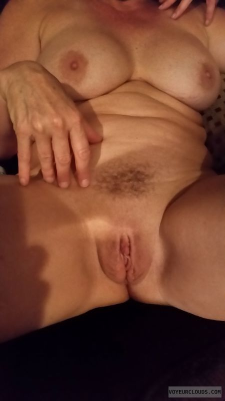 nude woman, hard nipples, GILF nude, shaved Pussy