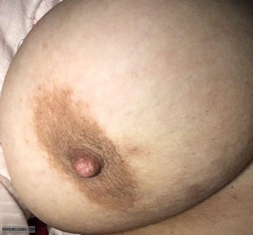 right tit, right boob, big tit, big boob, hard nipple