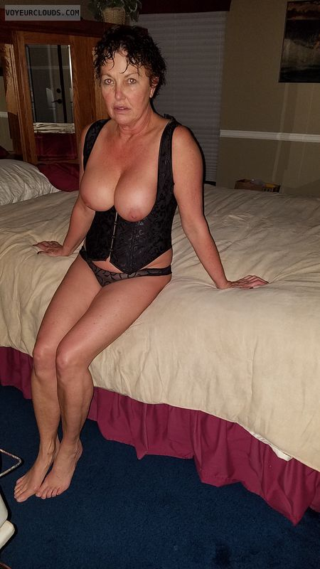 tits out, hard nipples, big tits, GILF boobs, sexy Lingerie