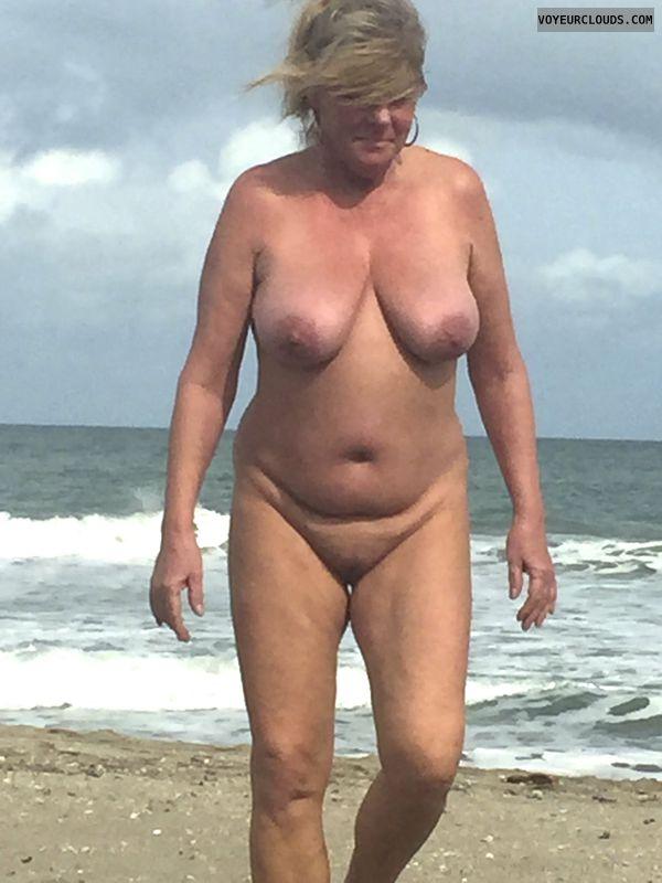 legs, tits, pussy, voyeur, beach, nude, blonde, nipples