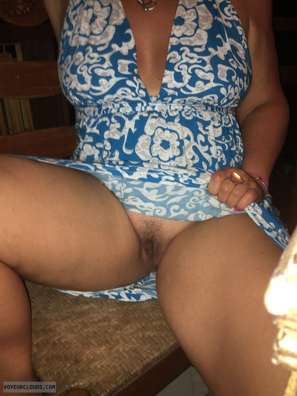 hairy pussy, pussy peek, spread legs, upskirt, flashing pussy