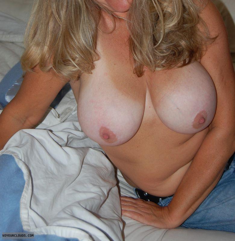 big tits, big nipples, milf, tan lines