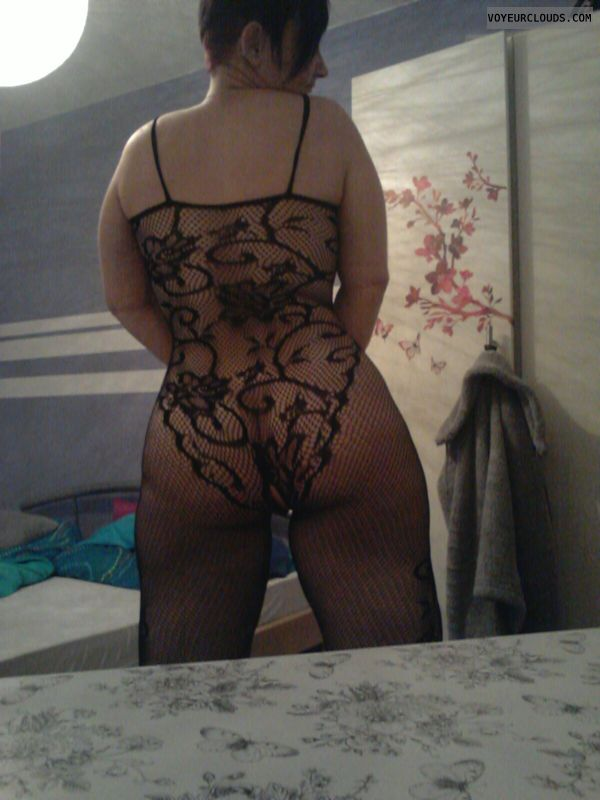 round Ass, milf butt, pussy peek, lace suit, sexy lingerie