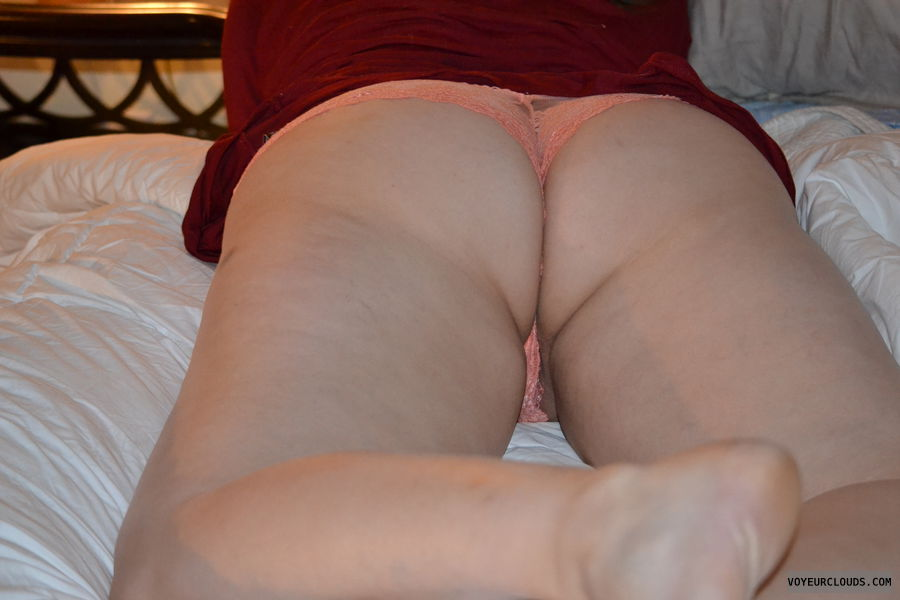 ass, panties, pussy peak, shaved pussy, pussy