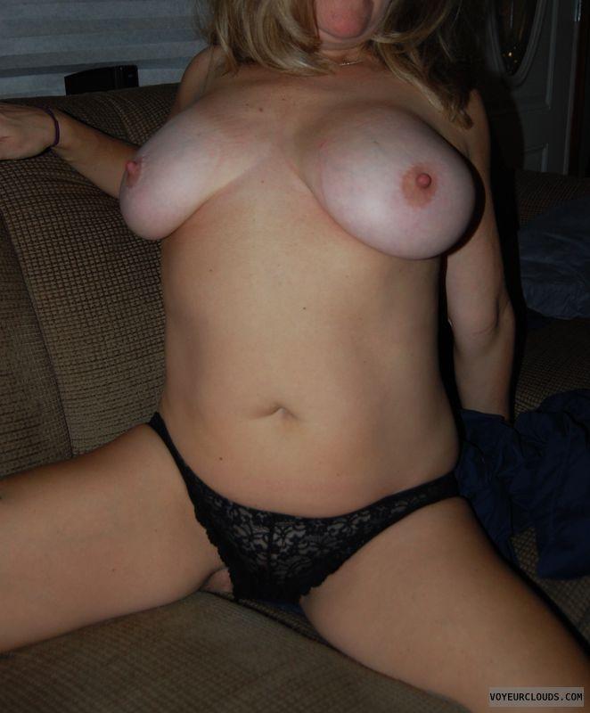 big tits, big nipples, milf, panties, tan lines